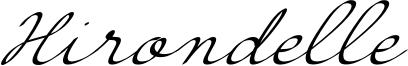 Hirondelle Font