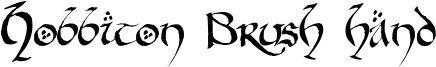 Hobbiton Brush hand Font