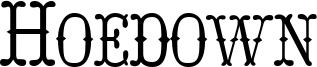 Hoedown Font