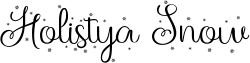 Holistya Snow Font