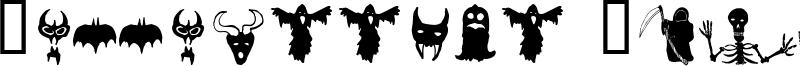 Holloweenie Bats Font