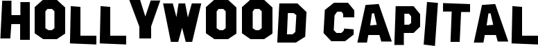 Hollywood Capital Font
