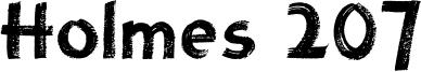 Holmes 207 Font
