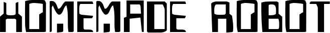 Homemade Robot Font