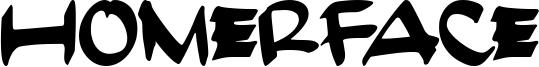 HomerFace Font
