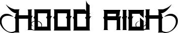 Hood Rich Font
