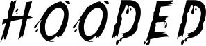 Hooded Font