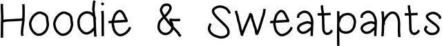Hoodie & Sweatpants Font