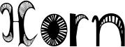 Horn Font