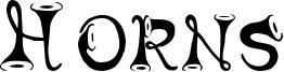 Horns Font