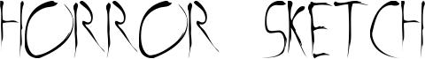 Horror Sketch Font