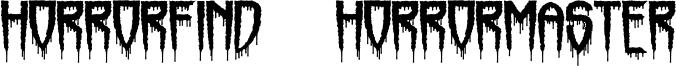 Horrorfind + Horrormaster Font