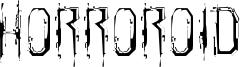 Horroroid Font