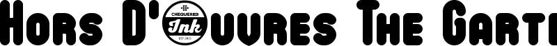 Hors D'œuvres The Garter Font