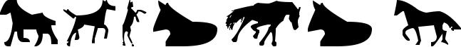 Horses 1 Font
