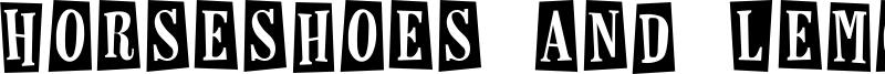 Horseshoes and Lemonade Font