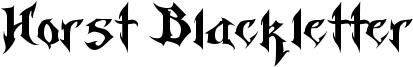 Horst Blackletter Font