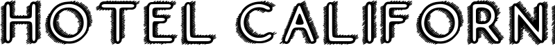Hotel California Font