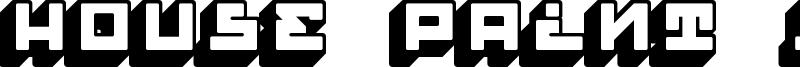 House Paint Slab Font