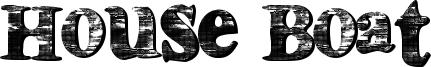 House Boat Font