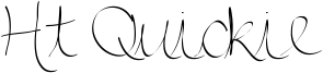 Ht Quickie Font
