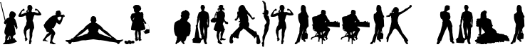 Human Silhouettes Five Font