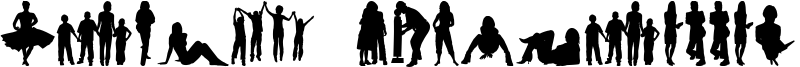 Human Silhouettes Free Four Font