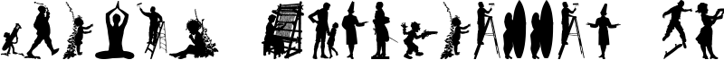 Human Silhouettes Free Nine Font