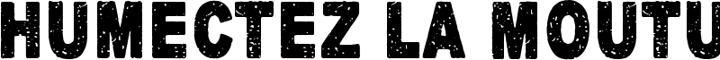 Humectez La Mouture Font