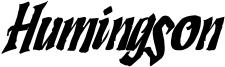 Humingson Rough Italic.otf