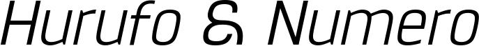 Hurufo & Numero Thin Italic.ttf