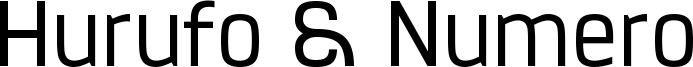 Hurufo & Numero Font