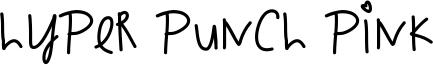 Hyper Punch Pink Font