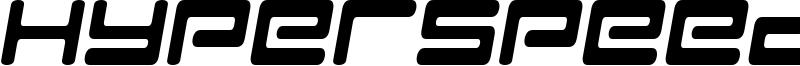 Hyperspeed Font