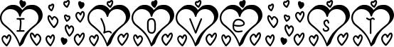 I Love St Font