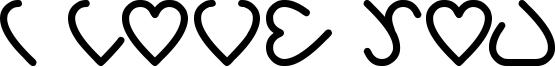 I love you Font