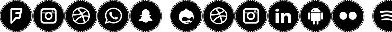 Icons Social Media 11 Font