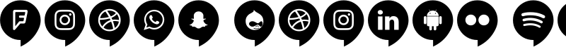 Icons Social Media 14 Font