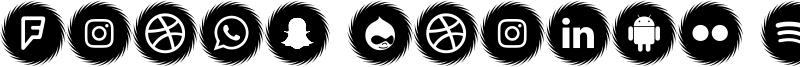 Icons Social Media 15 Font