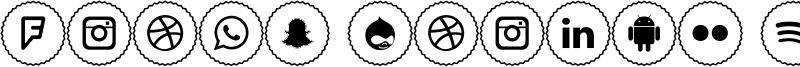 Icons Social Media 2 Font