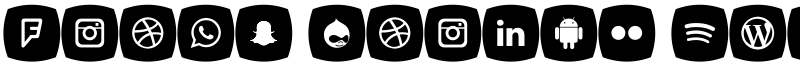 Icons Social Media 5 Font