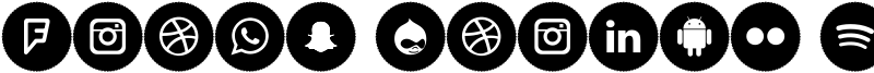 Icons Social Media 8 Font
