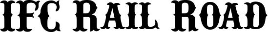 IFC Rail Road Font