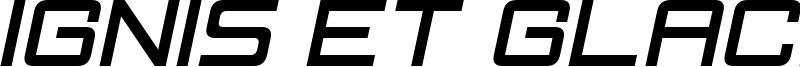 Ignis et Glacies Sharp Italic.ttf