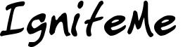 IgniteMe  Font