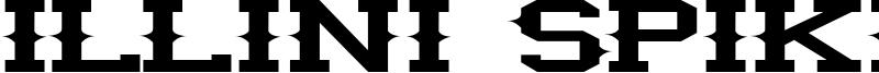 Illini Spike Font