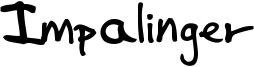 Impalinger Font