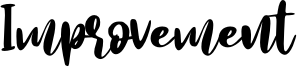 Improvement Font