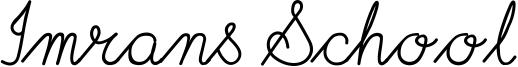 Imrans School Font