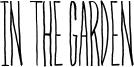 In The Garden Font
